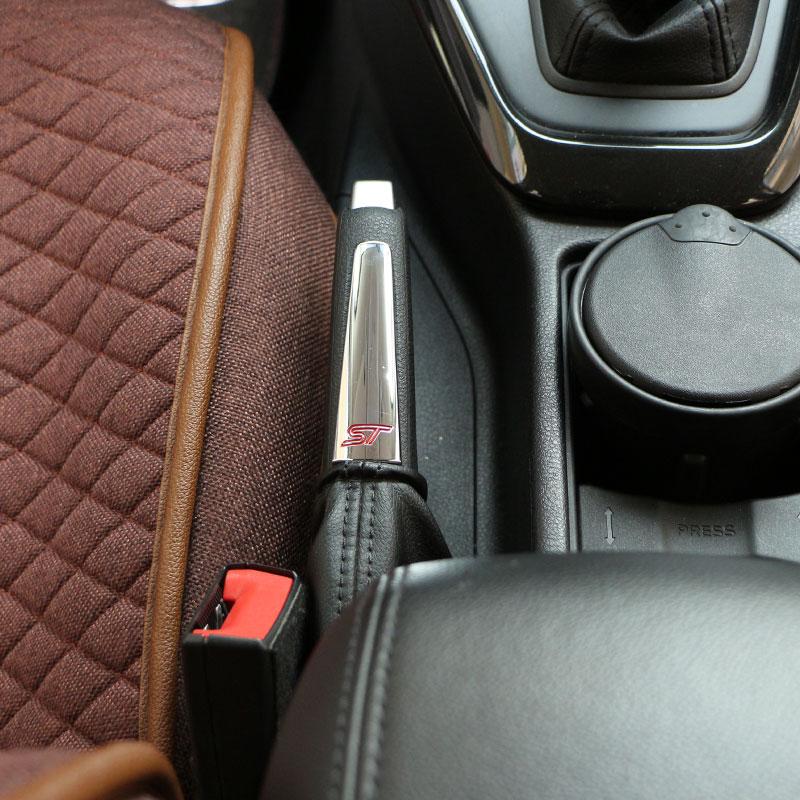 Color My Life ABS Chrome ST Handbrake Trim Sticker Interior Decoration Hand brake Sequin For Ford Focus 2 MK2 3 4 MK3 MK4 ST