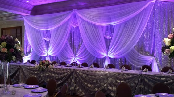 Deluxe Pure silver sequin Wedding Backdrop with beautiful white swags stage curtain Wedding Decoration
