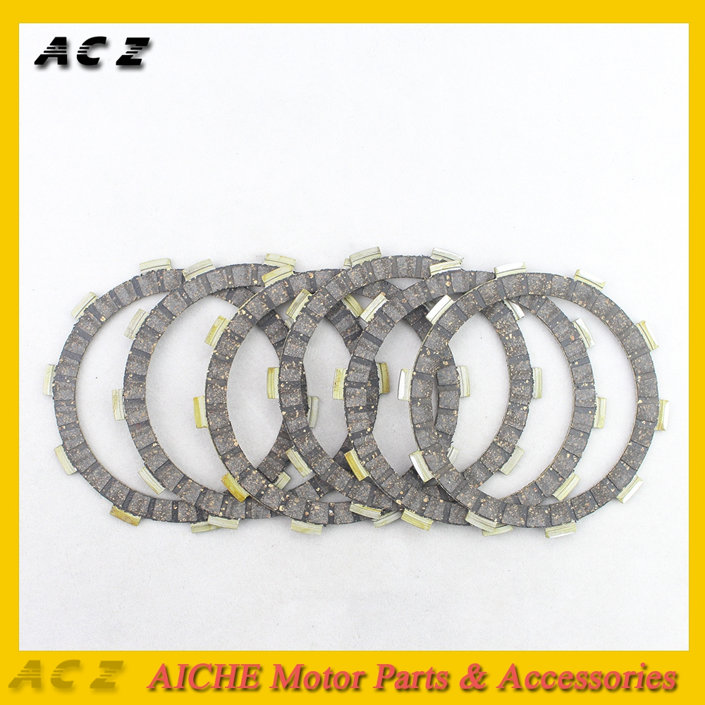 ACZ Motorcycle 6pcs Engine Part Clutch Friction Plates Bakelite Clutch Frictions Kit For Yamaha FZR250 FZR 250 DT230 DT 230