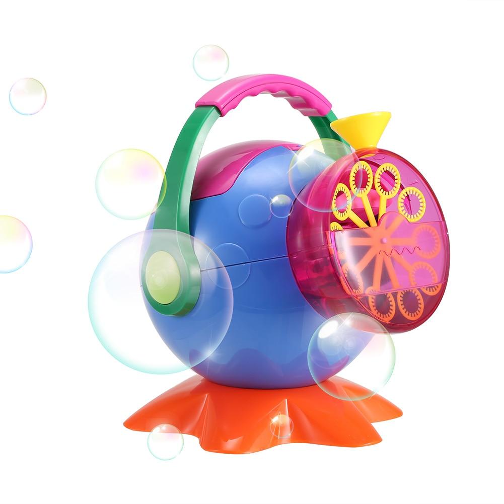 Soap Bubble Machine Outdoor ABS Plastic Bubbles Blower Toys for Kids @ZJF