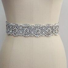Ceinture de mariage en cristal de luxe avec strass, ceinture avec perles pour robe de mariée, accessoires de mariage faits à la main