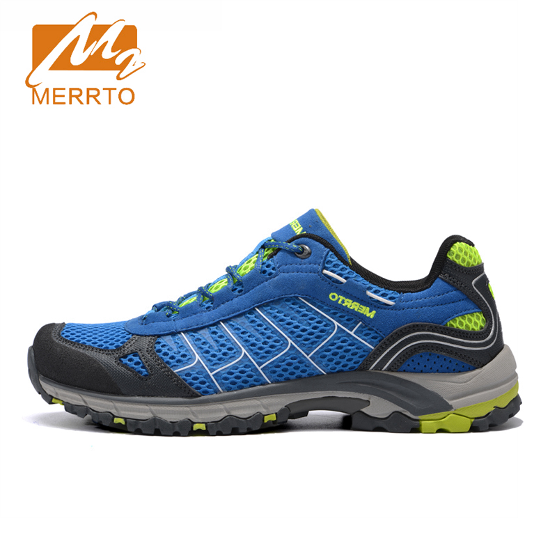 2016 Merrto Outdoor Breathable Trekking Shoes For Men and Women Hiking Shoes Lightweight Mens Walking Camping Sports Sneakers outdoor hiking shoes men women camping sneakers breathable outdoor sports sneakers walking trekking sneakers for couples lovers