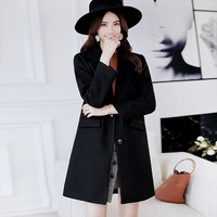 Loneyshow Woman Autumn Winter Loose Overcoat Hot Sale New Fashion Warm Long Caot For Female Long Sleeve Clohtes For Women