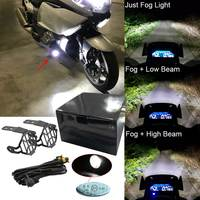 Universal Motorcycle 40W LED Auxiliary Fog Lights Assembly Driving Lamp for BMW R1200GS F800GS Versys KTM