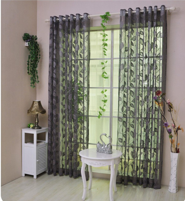 chinese curtains ikea modern cortina embroidered voile curtains