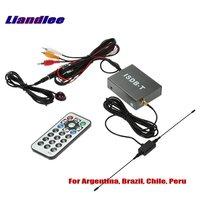 Liandlee Car Digital TV Receiver ISDB T Mobile HD TV Turner Host For South America Argentina, Brazil, Chile, Peru / Model T502
