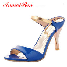 ENMAYER Hot! 2014 new high-heeled sandals sweet fashion banquet Slides wedding size 34-43