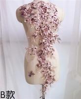 3D цветок жемчуг нитка для вышивания аппликация для вечернее платье Diy костюмы кружево ткани интимные аксессуары украшения патч материал