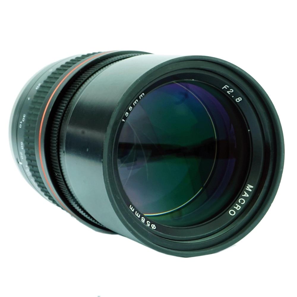 JINTU 135mm F/2.8 Telephoto Prime EF Mount Lens for Canon EOS 1300D  6D 7D 6DII 7DII 77D 760D 800D 60D 70D 80D 5DIV 5DIII Camera