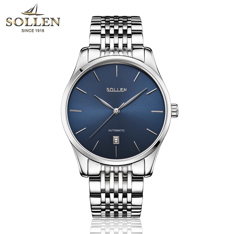Mens Watches Top Brand Luxury Automatic Mechanical Watch Men Full Steel Business Waterproof Sport Watches Relogio Masculino unique smooth case pocket watch mechanical automatic watches with pendant chain necklace men women gift relogio de bolso