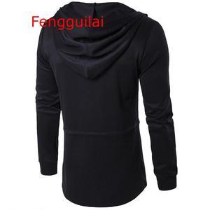 Image 3 - Hooded Jacket 2020 Autumn And Winter Windbreaker Cape Men Dark Long Cloak Hip Hop Mantle Outwear Moleton Long Sleeve Coat 5XL