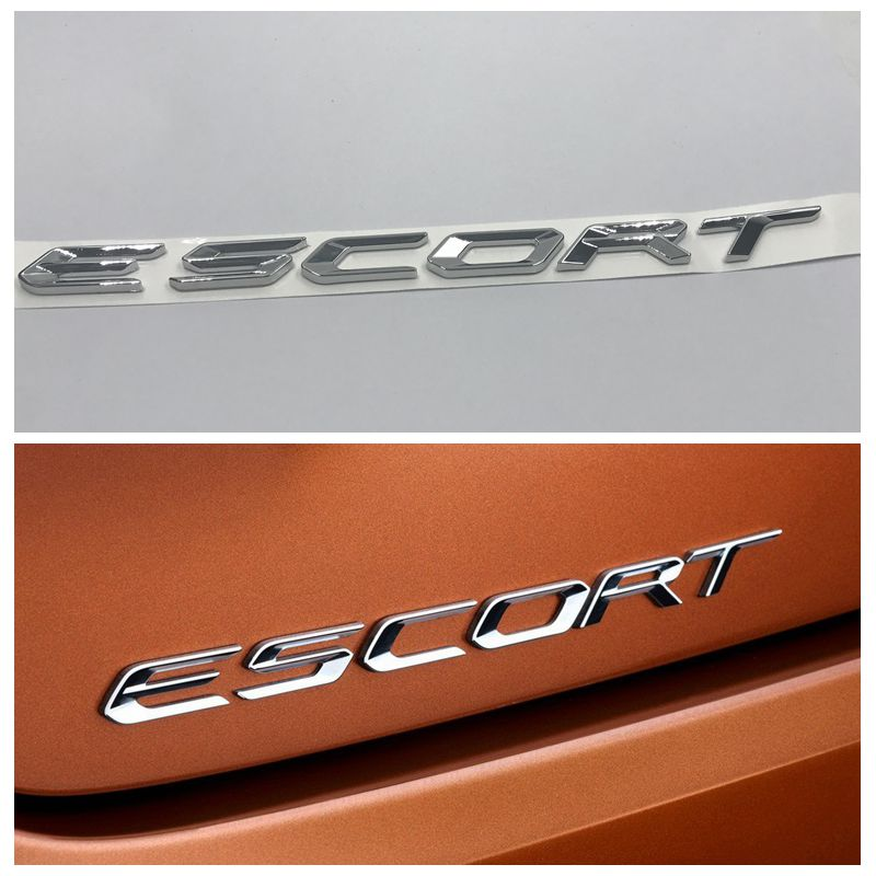 escort 3d chrome letters logo emblem car rear trunk badge sticker for ford escortchina