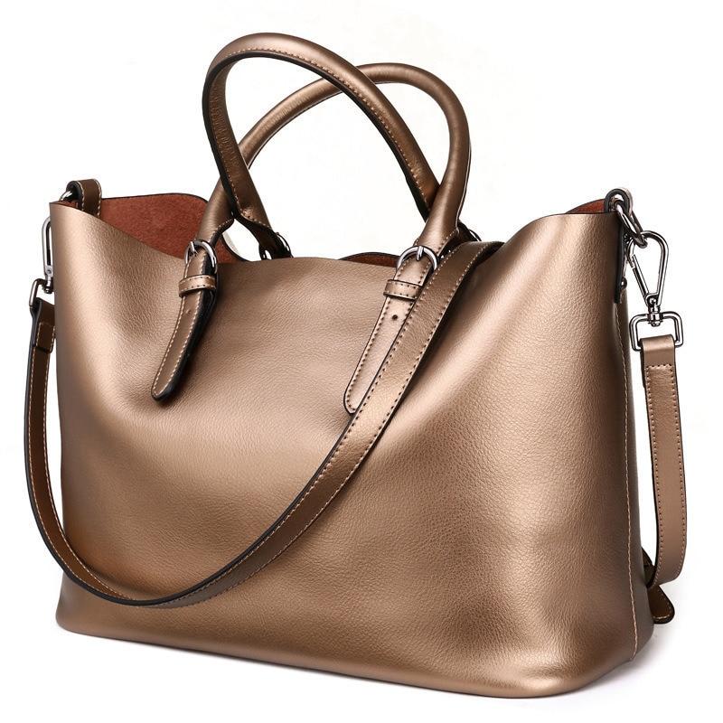 MUPO Brand Fashion Women Luxury Genuine Cow Leather Big Capacity Tote Bag Ladies Handbags Shoulder Bag 2017 New 16072809  цена и фото