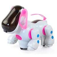 Hot Sale RC Car Intelligent Steering Dog Toys Brinquedos Light Emitting Electric Pet Dog Doll Music