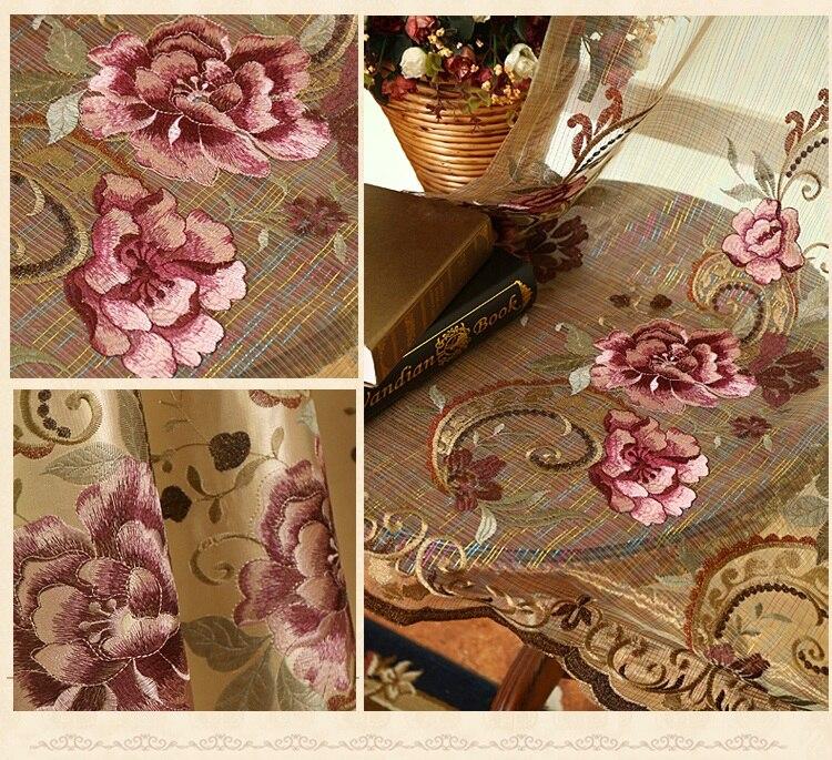 FYFUYOUFY högkvalitativ sammet gardin för vardagsrum Blombroderade - Hemtextil - Foto 6