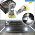 2pcs  6000K Xenon White Powered By Philips Luxen LED 5202 H16 PSX24W  Bulbs For Fog Lights or Daytime Running Lights