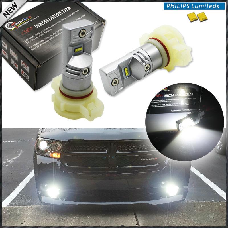 iJDM 6000K White Powered By Luxen LED 5202 H16 PSX24W Bulbs For Fog Lights or Daytime Running Lights,Car h16 led For Fog Ligh