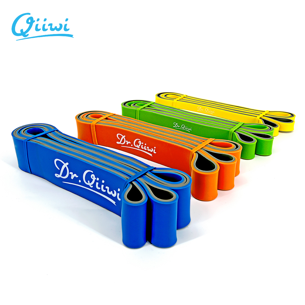 Dr.Qiiwi 210cm Rubber Elastic Resistance Bands Set Yoga Exercise Bands Loop For Training Fitness Gum Equipment Body Stretch