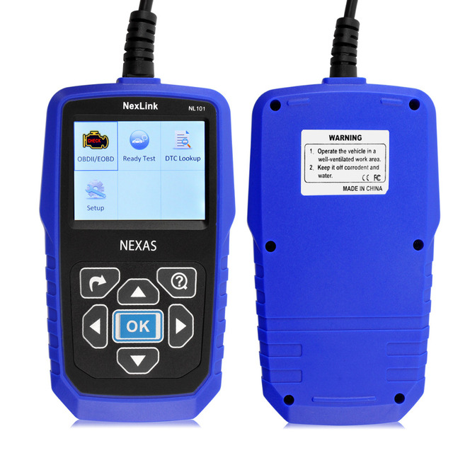 Scan tool obd2 Nexlink NL101 Авто OBD2 Сканер Автомобильный Диагностический Инструмент С Питанием от Батареи Мониторинга Лучше, чем AL519