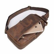 J.M.D  New Arrivals Men's Bag Excellent Crazy Horse Leather Chest Bag Vintage Cross Body Bag Fashion Shoulder Bag 4009B
