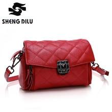 2016 Classic Diamond 100% Genuine Leather Women Handbags For Elegant Messenger Bags Colorful Crossbody Bag