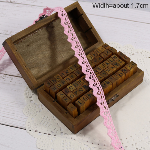 Zakka Стиль хлопковая кружевная лента швейная лента, бежевая Кружевная Сетка, крутая кружевная тесьма(17 мм x 50 ярдов - Цвет: Light Pink