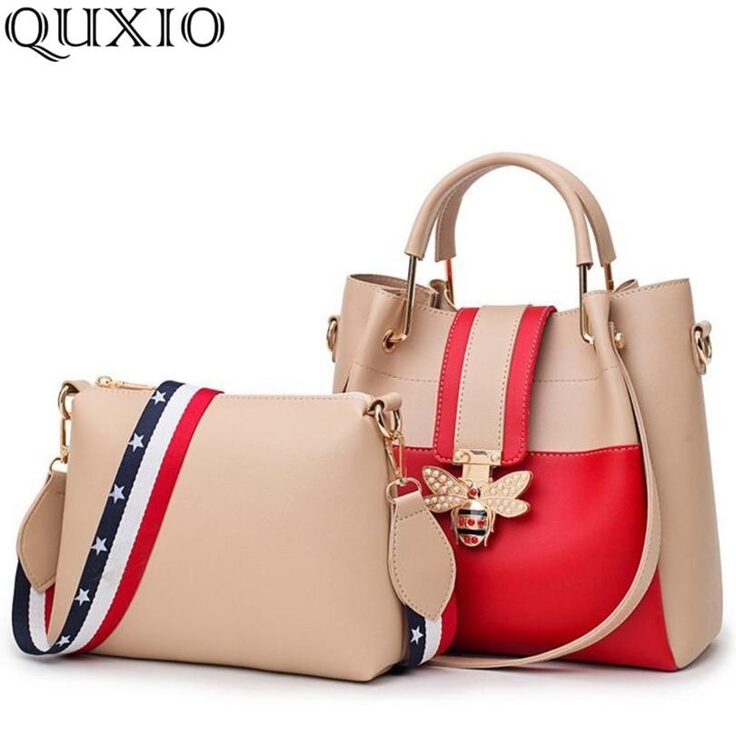 2018 New Fashion Composite Bag Female Shoulder Bag Pu Leather Women handbag Bee Design Luxury Top-Handle Bags For Women SGT02 1