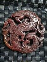 Selling antique jade ancient jade openwork pendants decoration elephant brand