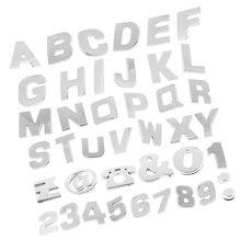 200 Pieces A-Z 0-9 Metallic Car Sticker Assorted Type 3D Emblem Stickers Rear Tail Auto Body Badge Auto Decoration 1 set 5x 3d 350 z symbol car auto front rear side body emblem badge stickers for nissan 350z fairlady z z33 black