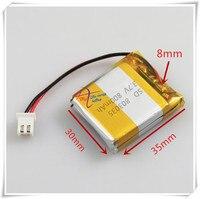 Monitor XHR-2P 2.54 800 mAh 3.7 V micro juguetes interfono foto de grupo de la batería de polímero de litio 403035x2 803035