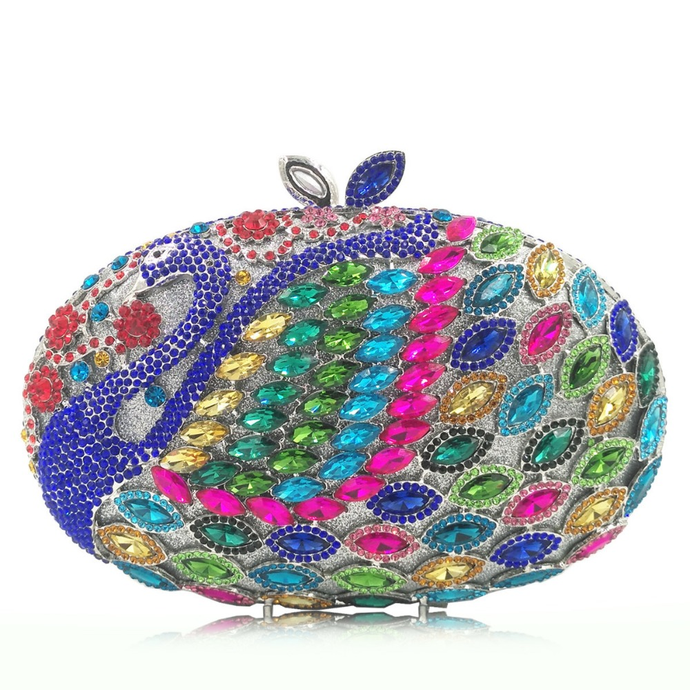 Hollow Out Women multi color Crystal Clutch Evening Handbags and Purses pink/red Metal Hardcase Floral Wedding Minaudiere Bags вытяжка korting khc 6535 rb