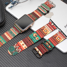 New Bohemian Nylon Band for Apple Watch 42mm 38mm Nylon Strap for Iwatch Series 1 2 3 4 Band Sports Wristbands National Pattern