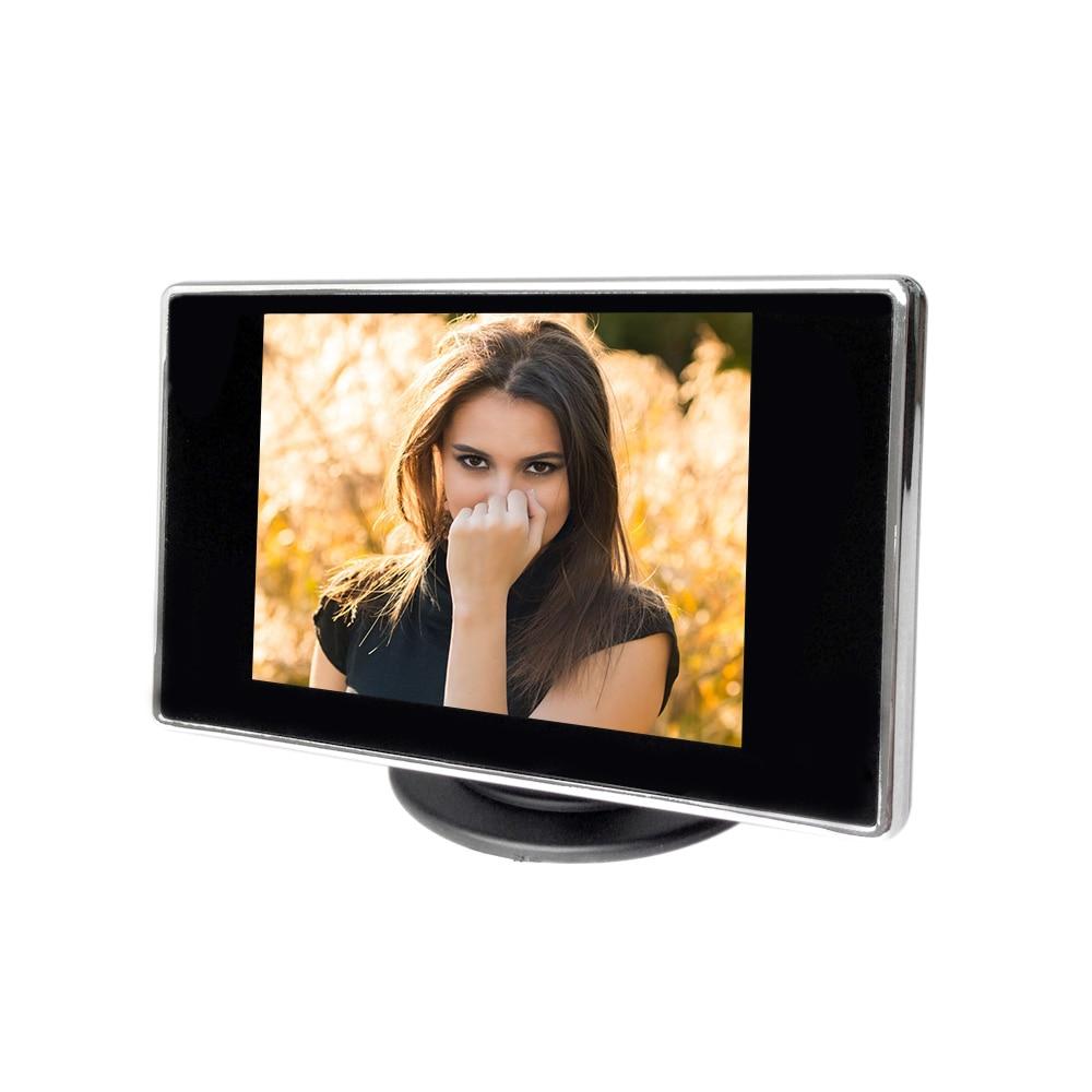 """imágenes para 3.5 """"TFT LCD de Coches Monitor de TV Auto cámara de visión trasera con espejo monitor de Reserva del Estacionamiento del Revés del Monitor DVD Del Coche pantalla"""