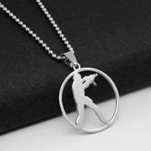 Stainless Steel Anime Game CS Logo charm Necklace GO Counter-Strike Logo Symbol Necklace Round Global Offensive Pendant Necklace anime game series the legend of zelda pendant necklace kids jewelry stainless steel triforce symbol triangle layered necklace