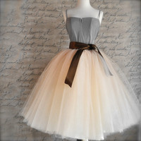 8 Layers Maxi Long Tulle Skirt Midi Women Skirt American Apparel Adult Tutu Princess Ball Gown