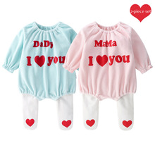 Baby Sets Clothes Long Sleeve Romper  New Born Girl Toddler Ruffle Fall Outfits for Girls