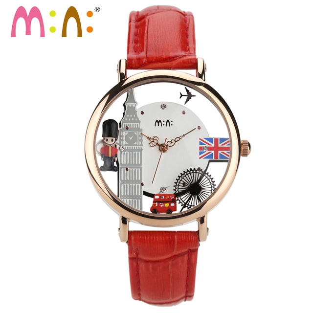 M N Hecho A Mano 3d Polymer Clay Quartz Casual Reloj Mujeres