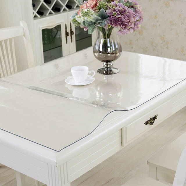 100x100cm Waterproof Clear Pvc Tablecloth Protector Table