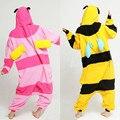 New Adult Unisex Animal Pink Bee Pajamas Sleepsuit Cosplay Women Sleepwear