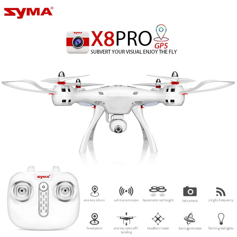 Mais novo SYMA X8PRO GPS DRONE RC Quadcopter Com Câmera Wi-fi X8 Pro RC Helicóptero Quadrocopter FPV Profissional pode Adicionar 4 K Câmera