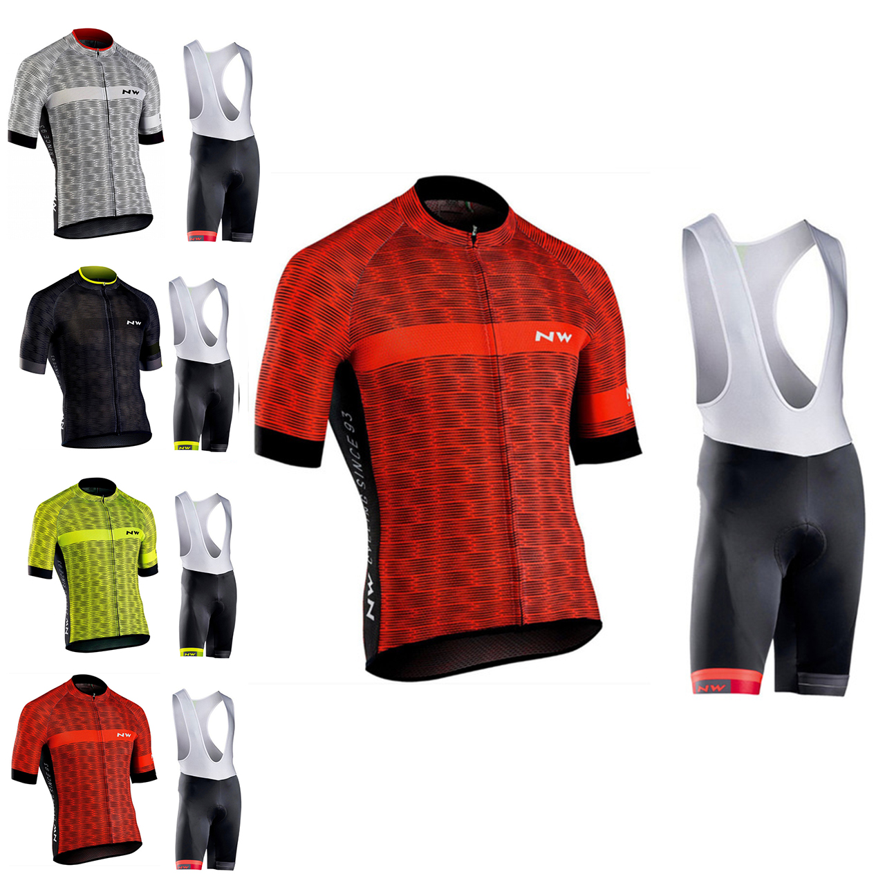 2018 NW Northwave Cycling jersey Set Summer Bicycle Clothing Maillot Ropa Ciclismo MTB Bike Clothes Sportswear Suit Cycling 12d pad cycling jersey set bike clothing summer breathable bicycle jerseys clothes maillot ropa ciclismo cycling set