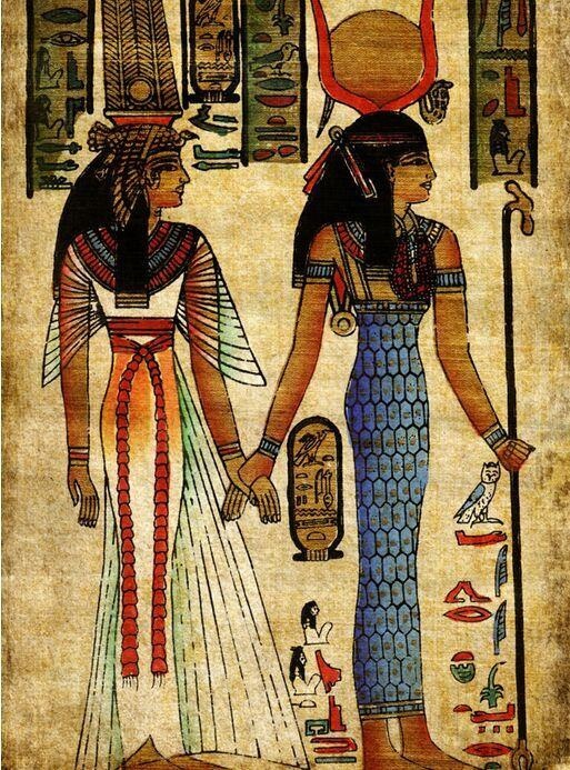 Custom photo wallpaper ancient Egyptian characters study retro