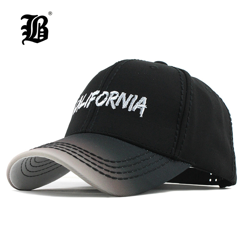 [FLB] Baseball Cap Men Fitted Cap Snapback Hat For Women Gorras Casual Casquette Letter Retro Cap Gradually Changing Color F200