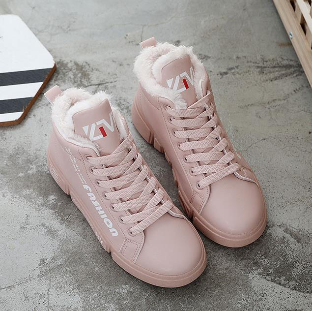 Mujeres Mantener Tobillo Las 40 Mujer Felpa Al Invierno Negro Aire Zapatos Botas Moda Nieve Calientes 2018 35 De blanco Libre rosado Trabajo 4YOqOw