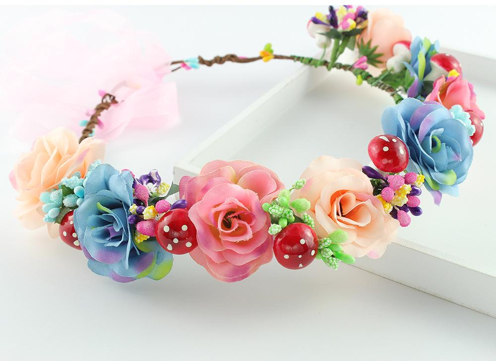 hecho a mano mujer nias margarita flor diadema de tela de pelo guirnalda de la flor