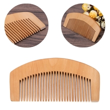 Peach Wood Comb Fine Tooth Head Massage Hair Care Beard Mustache Anti-static