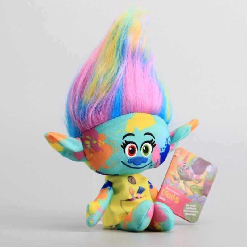 Movie Trolls Plush Toy Cute Colorful Harper Stuffed Dolls The Good Luck Trolls 11