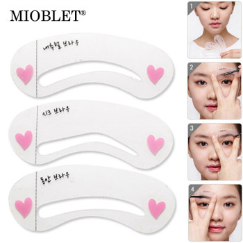 3Pcs Reusable Eyebrow Grooming Stencil Eye Brow Drawing Template Card Tips Makeup Tool DIY Beauty Eyebrow Shadow Shaper Kit Sets