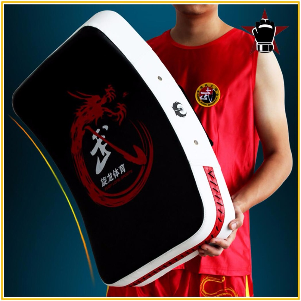 Quality Large Size Foot Target Sport Training Boxing Muay Thai Kick Pad Training Shield Curve Pads MMA Fight Punch Bag Durable