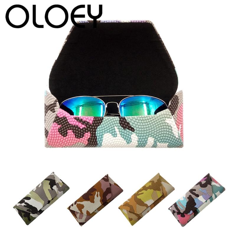 OLOEY 2018 Camuflaje Gafas de Sol Duras Gafas Gafas Retro Caja de - Accesorios para la ropa